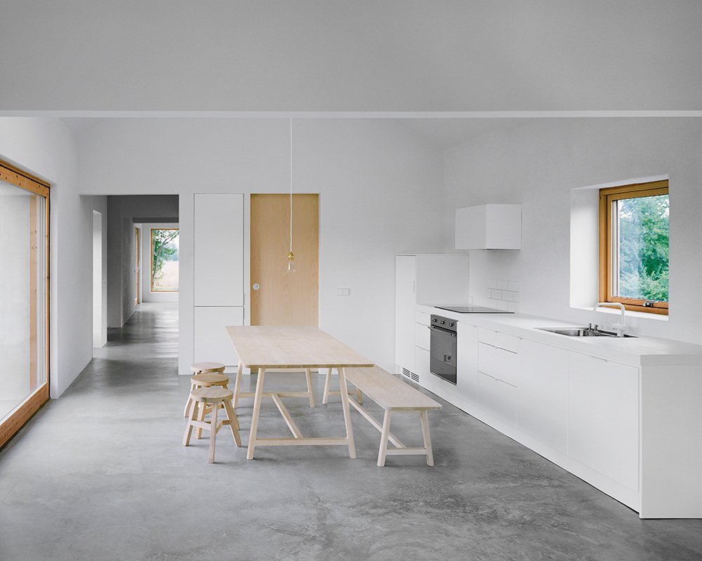 Kitchen and White Cabinet  Photos from House on Gotland by Etat Arkitekter