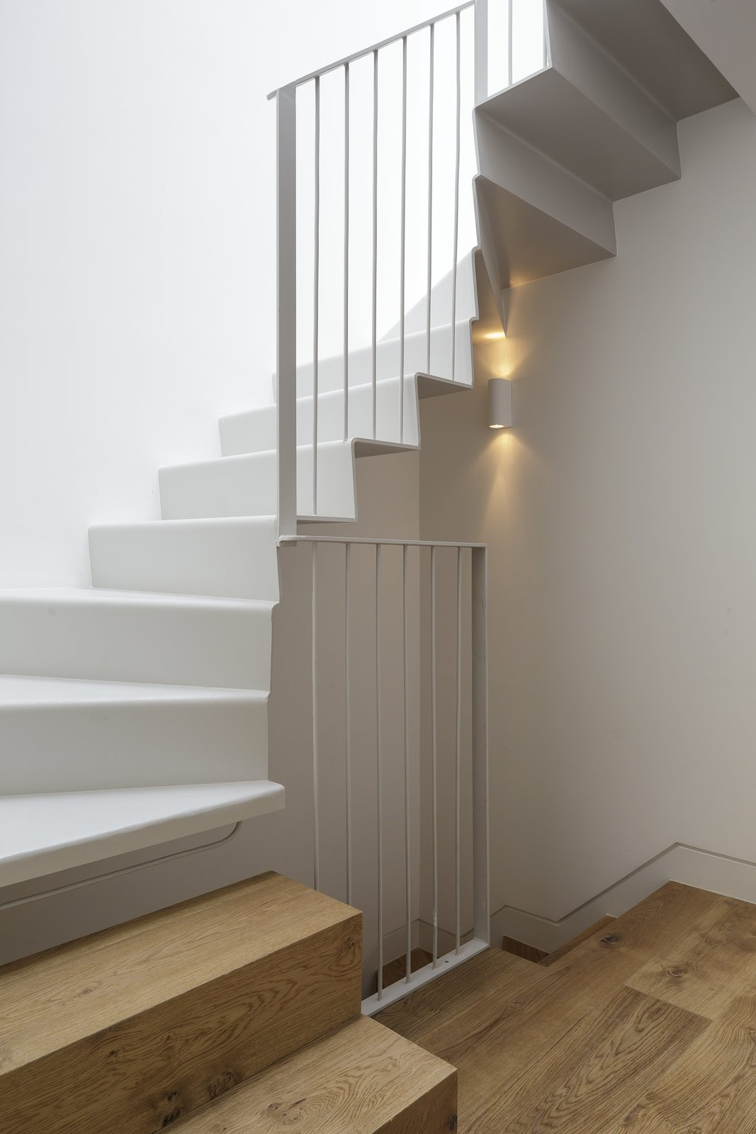 Staircase, Metal Railing, and Metal Tread  Photo 4 of 4 in Room No Roof by Tsuruta Architects