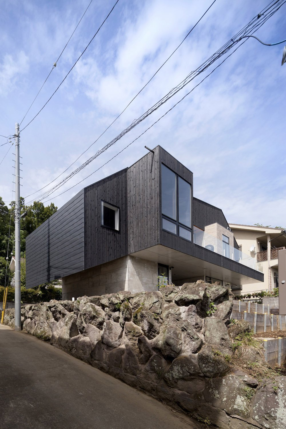 Exterior, Glass Siding Material, House Building Type, and Wood Siding Material  Best Photos from Hayfe by CUBO design architect