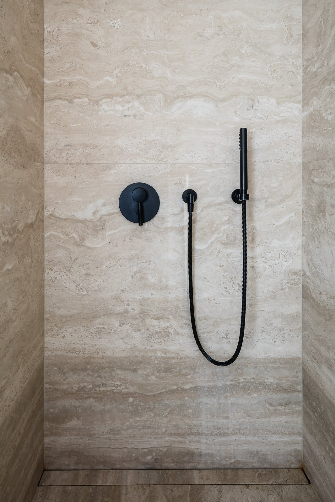 Bath, Open, and Stone Tile  Best Bath Stone Tile Open Photos from BC House by Dieter Vander Velpen