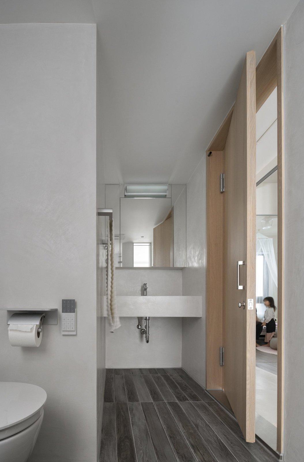 Slate Floor, Chair, and Bath Room  Backlight Apartment