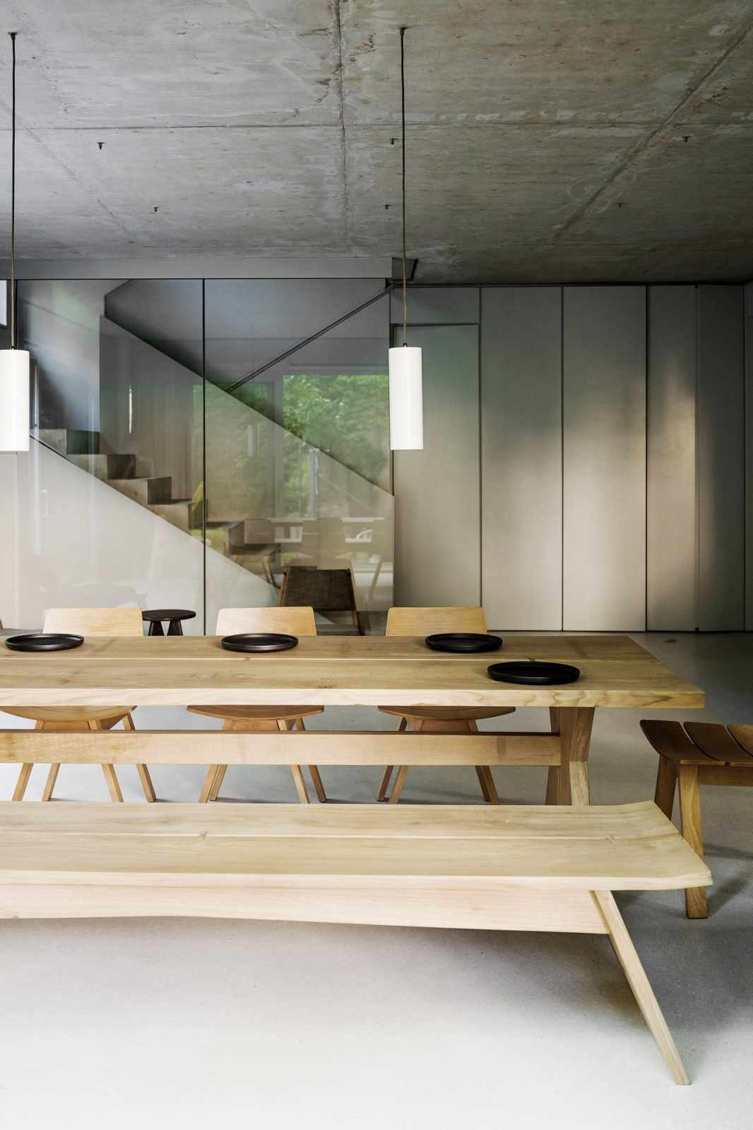 Dining Room, Chair, Table, and Pendant Lighting  House on Prenzlauer Berg