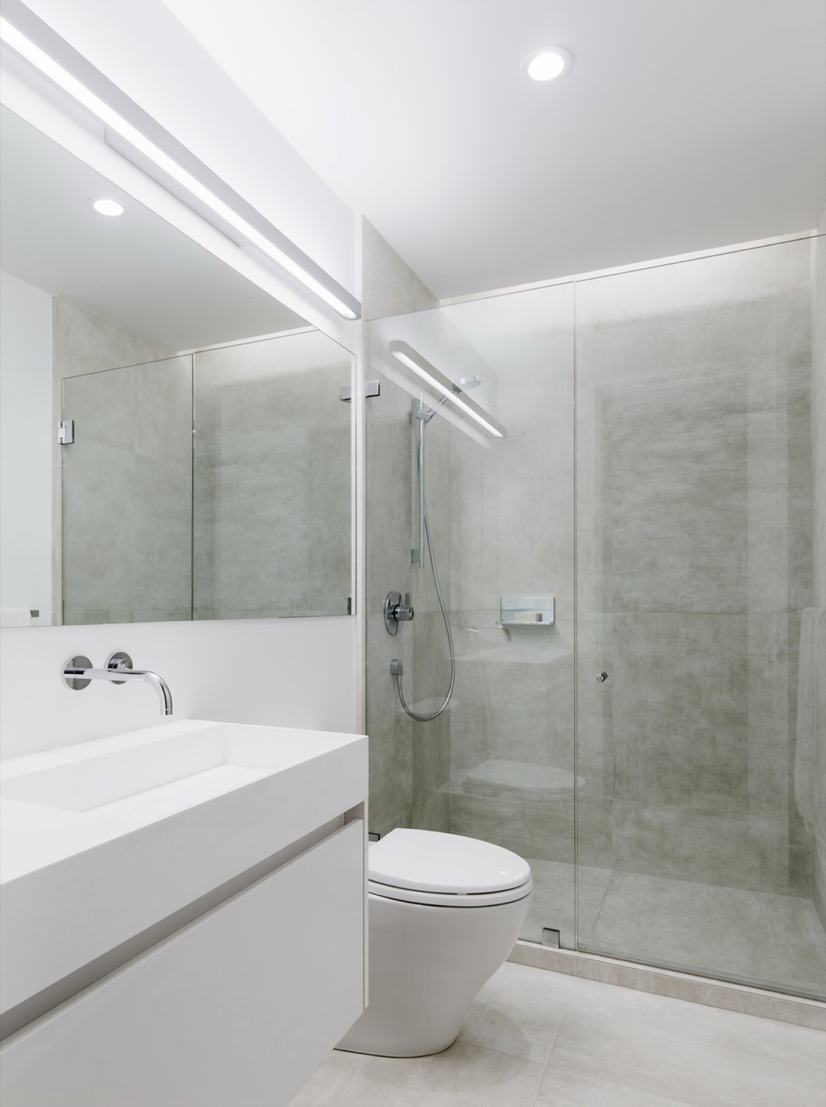 Bath Room, Recessed Lighting, and Enclosed Shower  Switchback House