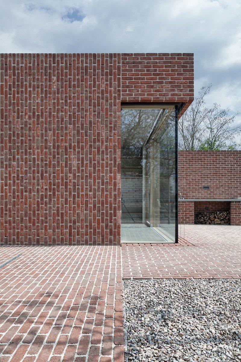 Brick Garden with Brick House