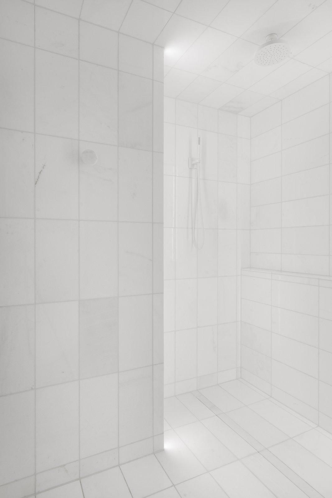 Bath Room, Marble Floor, Open Shower, and Corner Shower  IN 3