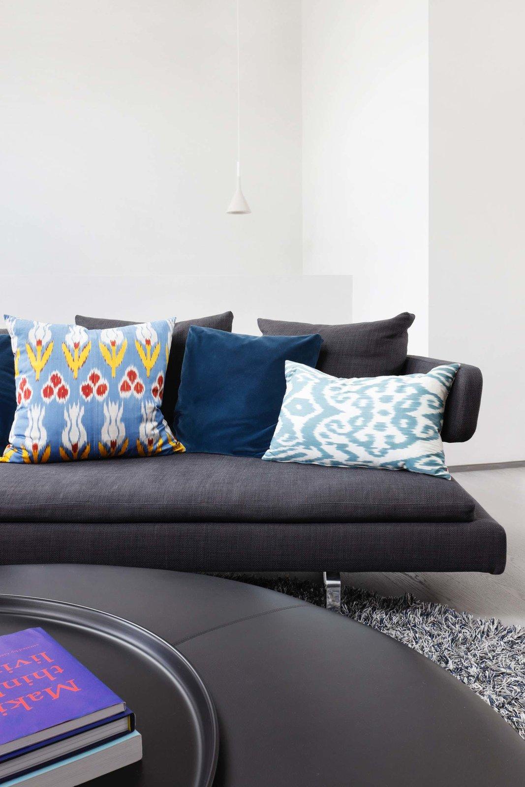Living Room, Sofa, and Pendant Lighting  Maida Vale Apartment