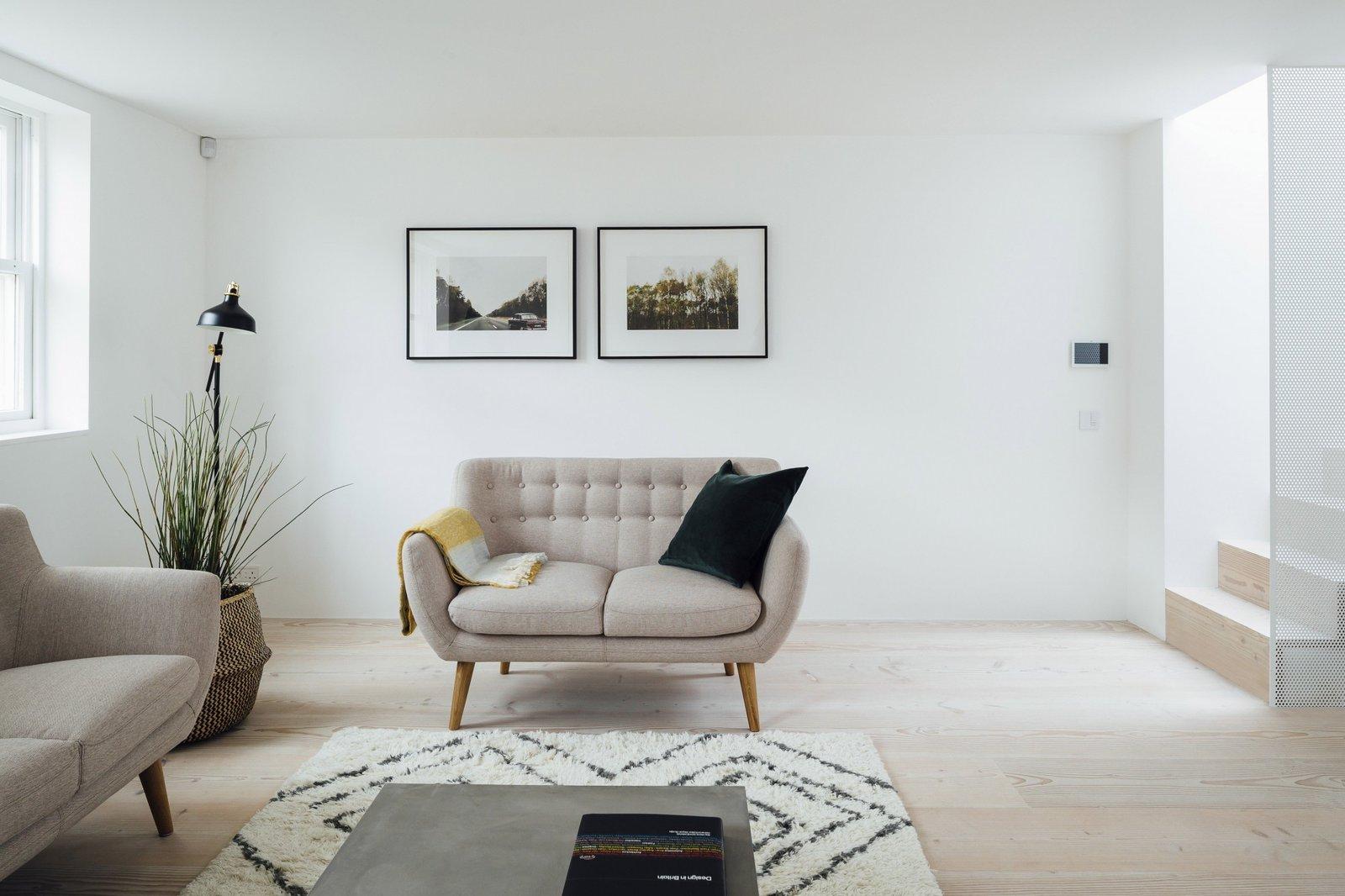 Living Room, Sofa, and Light Hardwood Floor  Stanhope Gardens