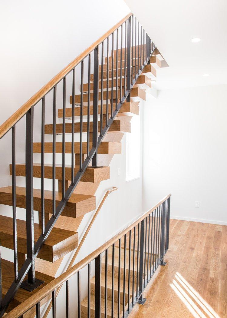 Staircase and Wood Tread  Wayne Street Row House