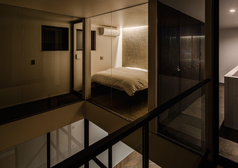Bedroom, Bed, and Ceiling Lighting  Residence in Takariya