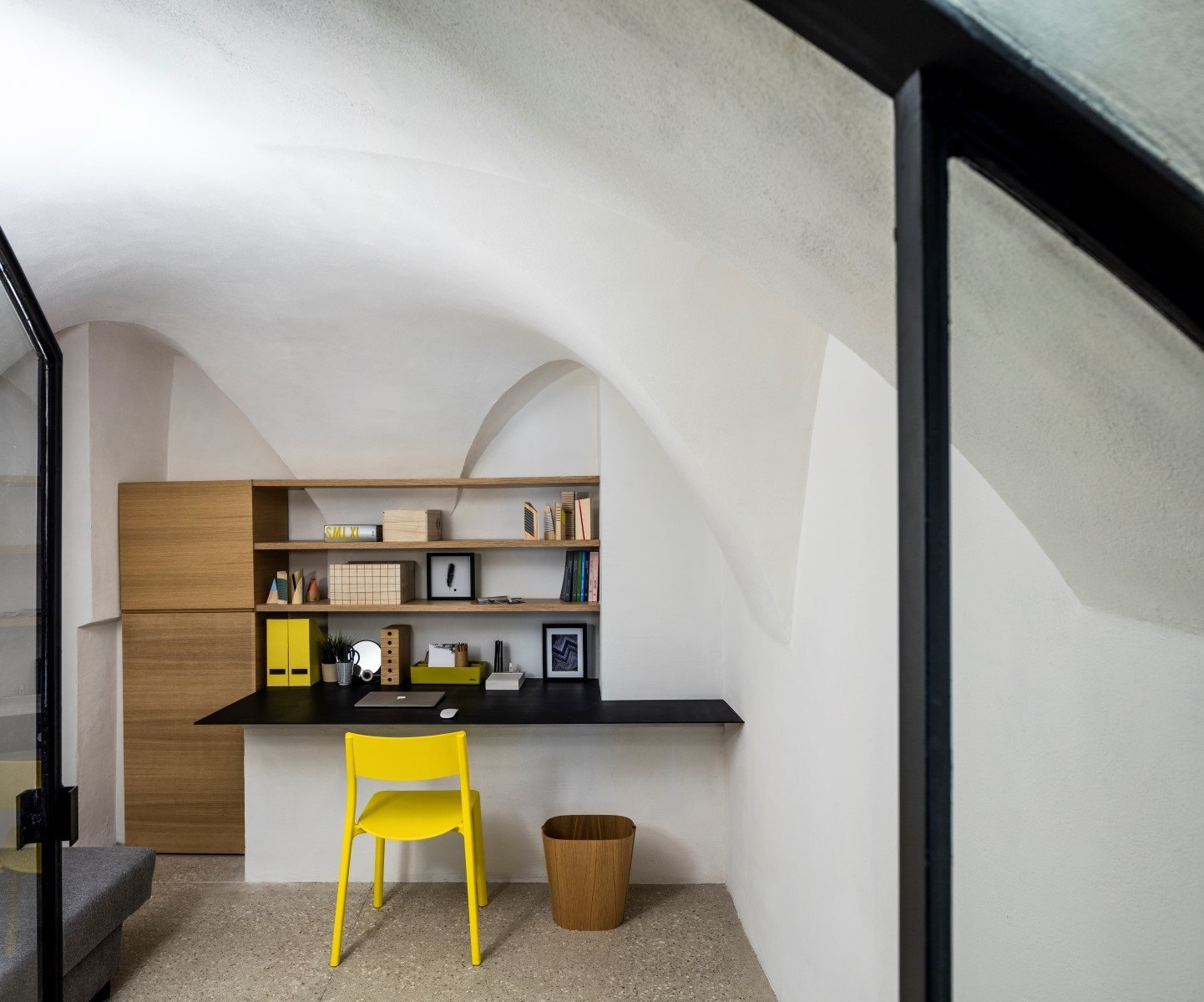 Office, Study Room Type, Chair, and Terrazzo Floor  Old Jaffa House