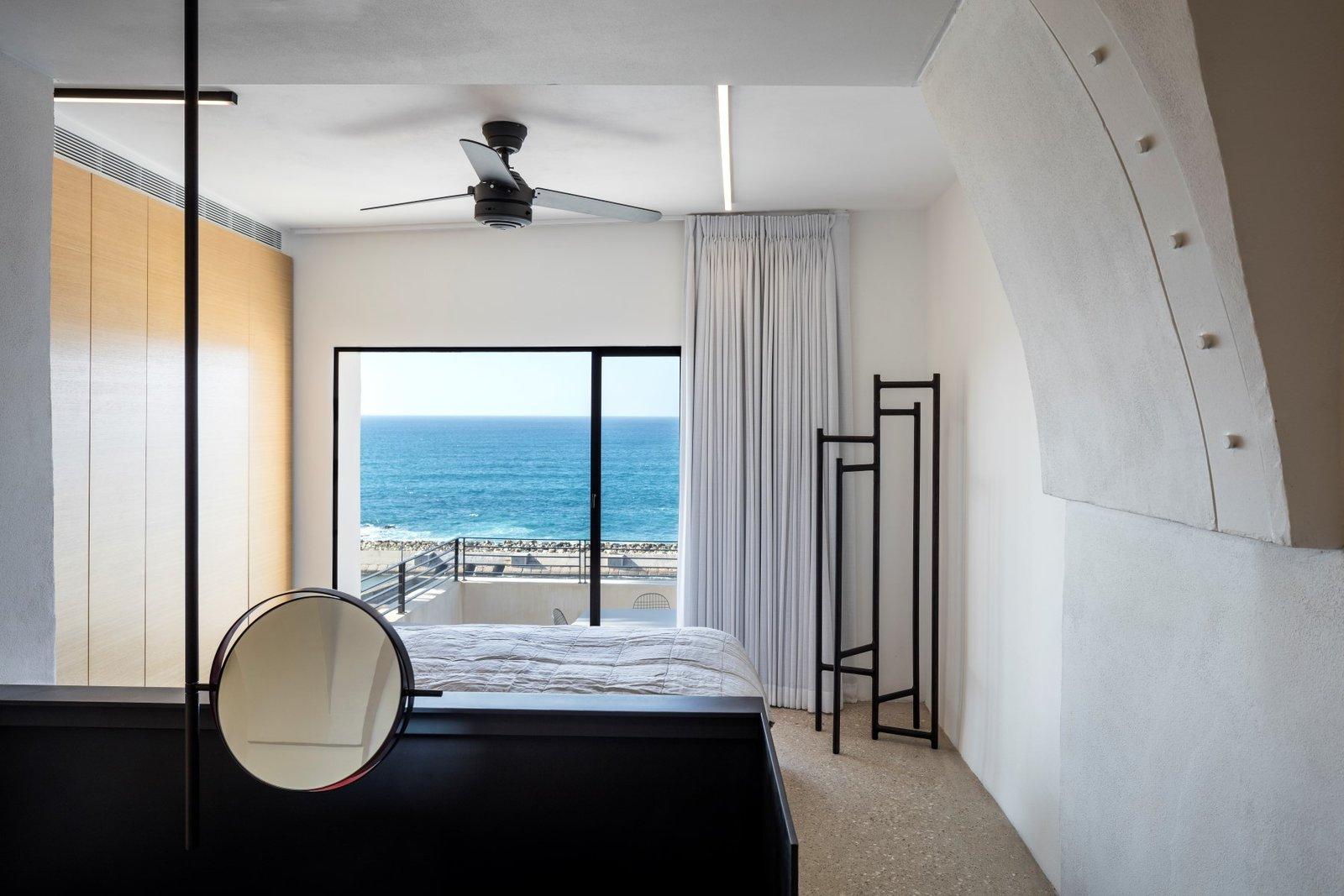Bedroom, Bed, and Terrazzo  Best Bedroom Terrazzo Bed Photos from Old Jaffa House