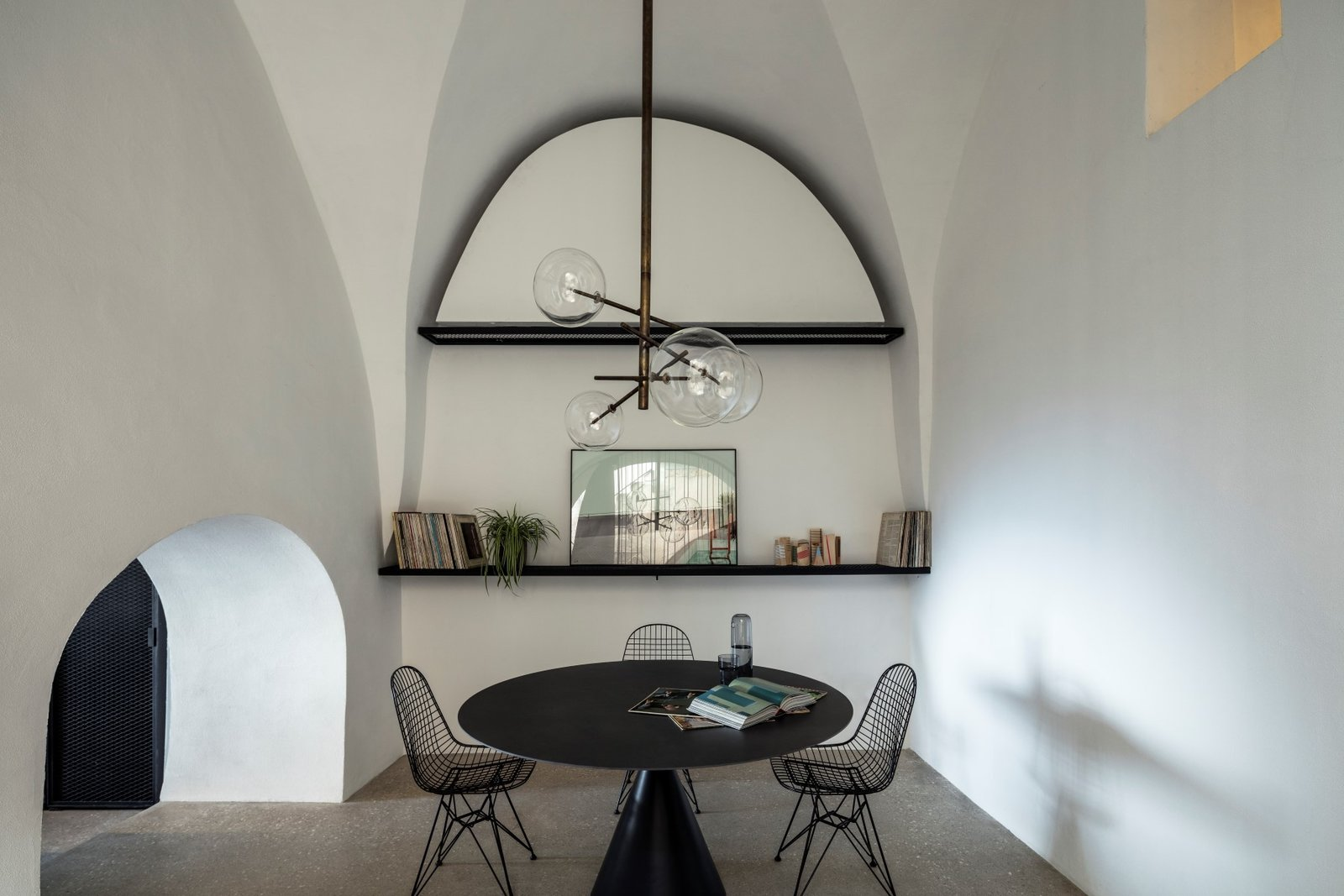 Dining Room, Chair, Table, Terrazzo Floor, and Pendant Lighting  Old Jaffa House