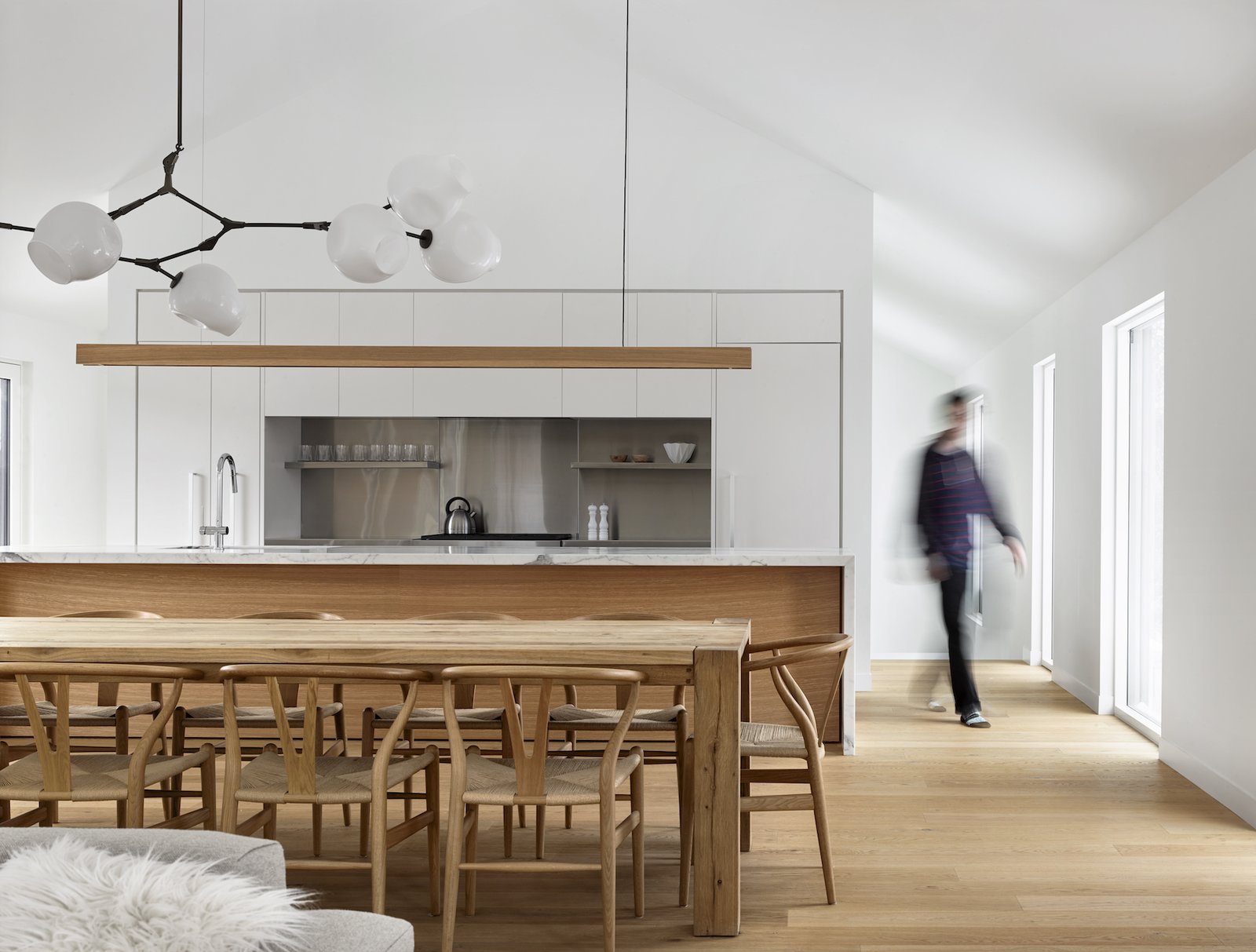 Tagged: Living Room, Chair, Light Hardwood Floor, and Pendant Lighting.  Alta Chalet