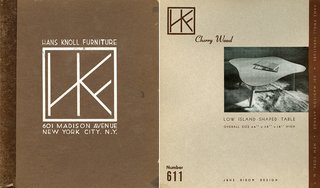 Jens Risom designs for Hans Knoll Furniture, 1942. Image from the Knoll Archive.