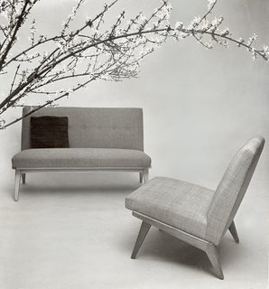 Jens Risom's early designs for Knoll, c. 1940s. Image from the Knoll Archive.