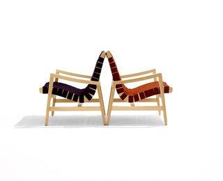 Jens Risom's 650 Line Lounge Chair with Arms. Photograph by Ilan Rubin.