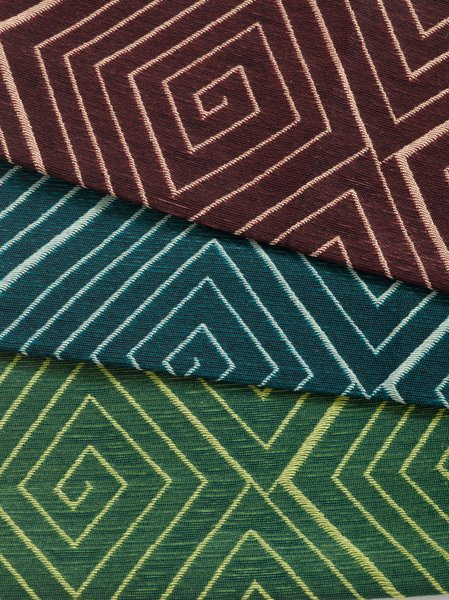 Meroe upholstery by David Adjaye and Dorothy Cosonas, 2015. Photography by KnollTextiles.