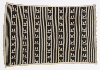 Women's wrapper from the Igbo peoples, Akwete, Nigeria, early to mid-20th century from David Adjaye Selects at the Cooper-Hewitt. Image courtesy of Cooper-Hewitt.