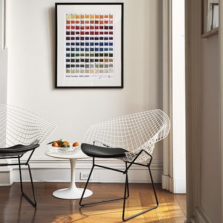 Bertoia Two-Tone Diamond Chairs, 2016. Photograph by Knoll.