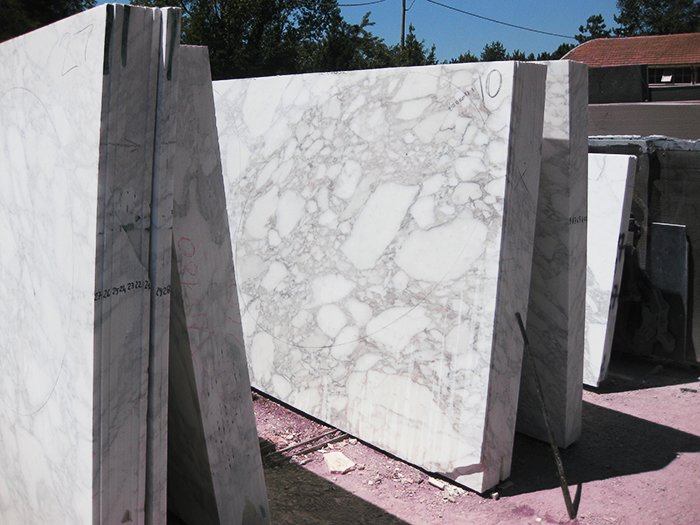 Marble slabs being acclimatized, prior to production, 2013. Photography by Knoll.  Photo 6 of 14 in Quarry to Table: A Story in Stone