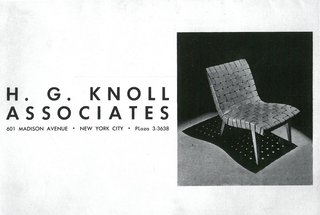 Original Hans G. Knoll Associates advertisement with the 650 Line Lounge Chair designed by Jens Risom. Image from the Knoll Archive.