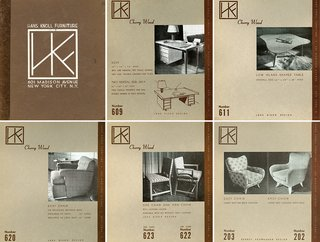 The original product catalogue for Hans G. Knoll Associates designed by Hans Knoll and Jens Risom, c. 1942. Image from the Knoll Archive.