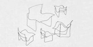 Sketch for the Handkerchief Chair by Lella & Massimo Vignelli. Image form the Knoll Archives.