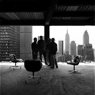 """Jon Naar's inaugural photograph for Knoll titled, """"Pollock Skyline,"""" 1973."""
