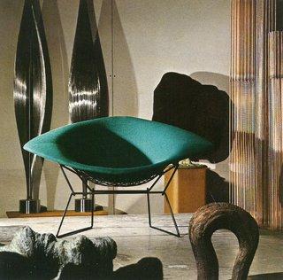 Harry Bertoia's Large Diamond Chair in Bally, Pennsylvania, 1973.