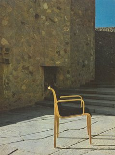 Stephens Chair at the Yale University campus in New Haven, Connecticut, 1973.