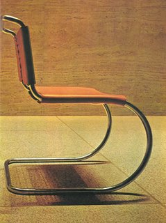 Ludwig Mies van der Rohe's MR Chair in the Seagrams Building, 1973.