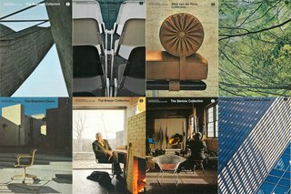 Examples of Jon Naar photographs on Massimo Vignelli-designed Knoll brochure covers, c. 1970s.