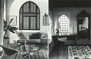 In the bedrooms and lounge areas, modern furniture was keenly balanced with oriental art and design.