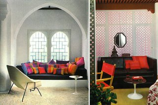The colorful inner spaces of York Castle, where light filtered in through Moorish-inspired windows.