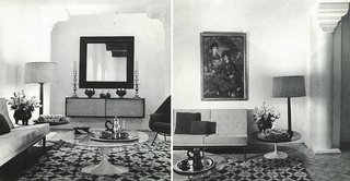 The lavishly decorated living room of York Castle, where mint tea would be served on Saarinen Coffee Tables.