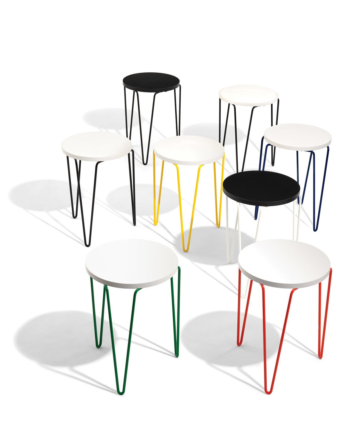 Table Florence Knoll Prix introducing the hairpin™ stacking table - dwell