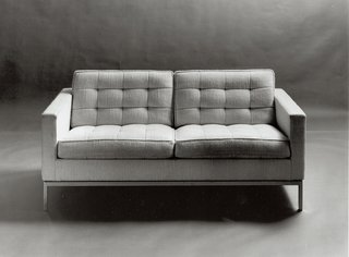 "Florence Knoll viewed designs like her 1954 Settee as the ""meat and potatoes"" of the office. Image from the Knoll Archive"