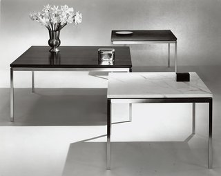 """Introducing New Designs Inspired by a Century of Florence Knoll - Photo 7 of 9 - The End Tables designed by Florence Knoll as """"fill ins"""" for the office designs of the Planning Unit. Image from the Knoll Archive."""