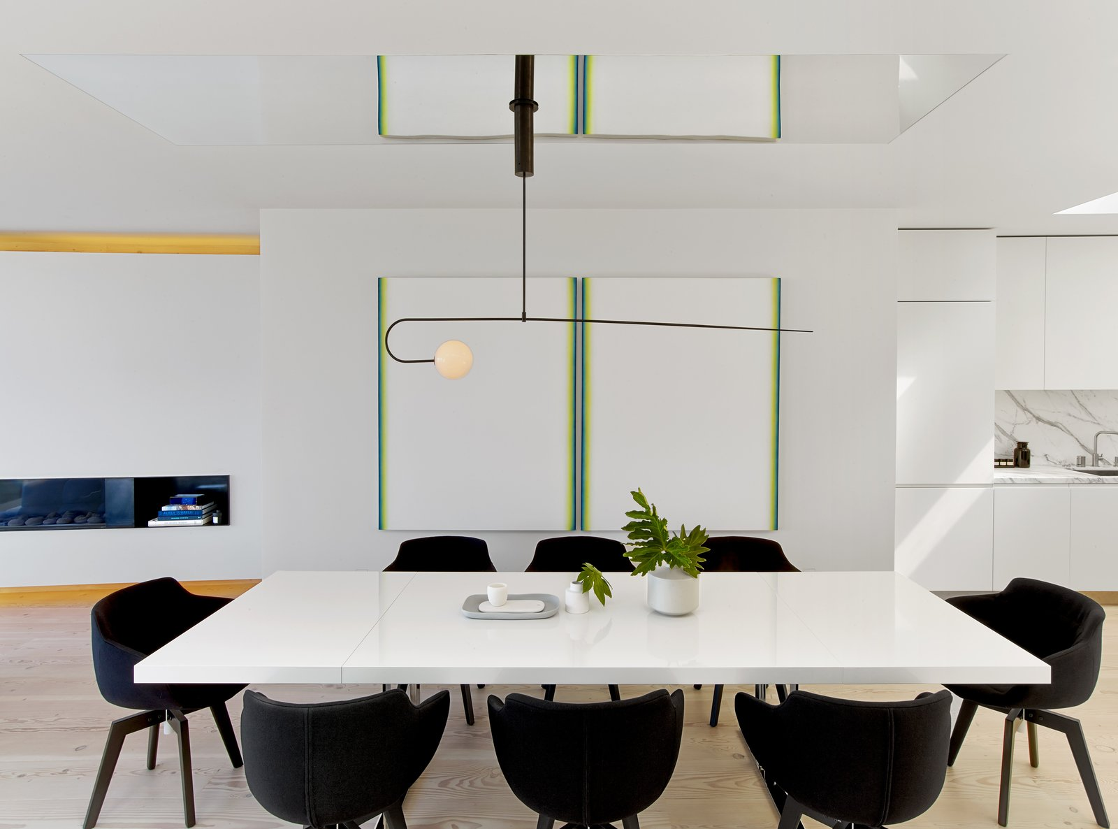 Tagged: Dining Room, Chair, Table, Pendant Lighting, and Light Hardwood Floor.  Glen Park Residence by CCS Architecture