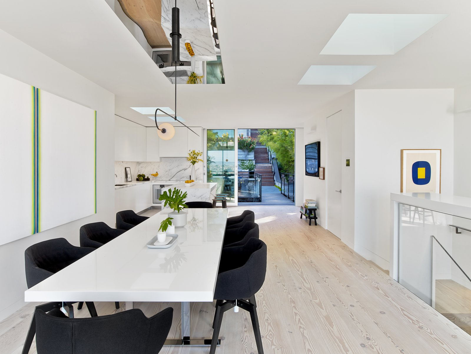 Dining Room, Chair, Table, Pendant Lighting, and Light Hardwood Floor  Glen Park Residence by CCS ARCHITECTURE