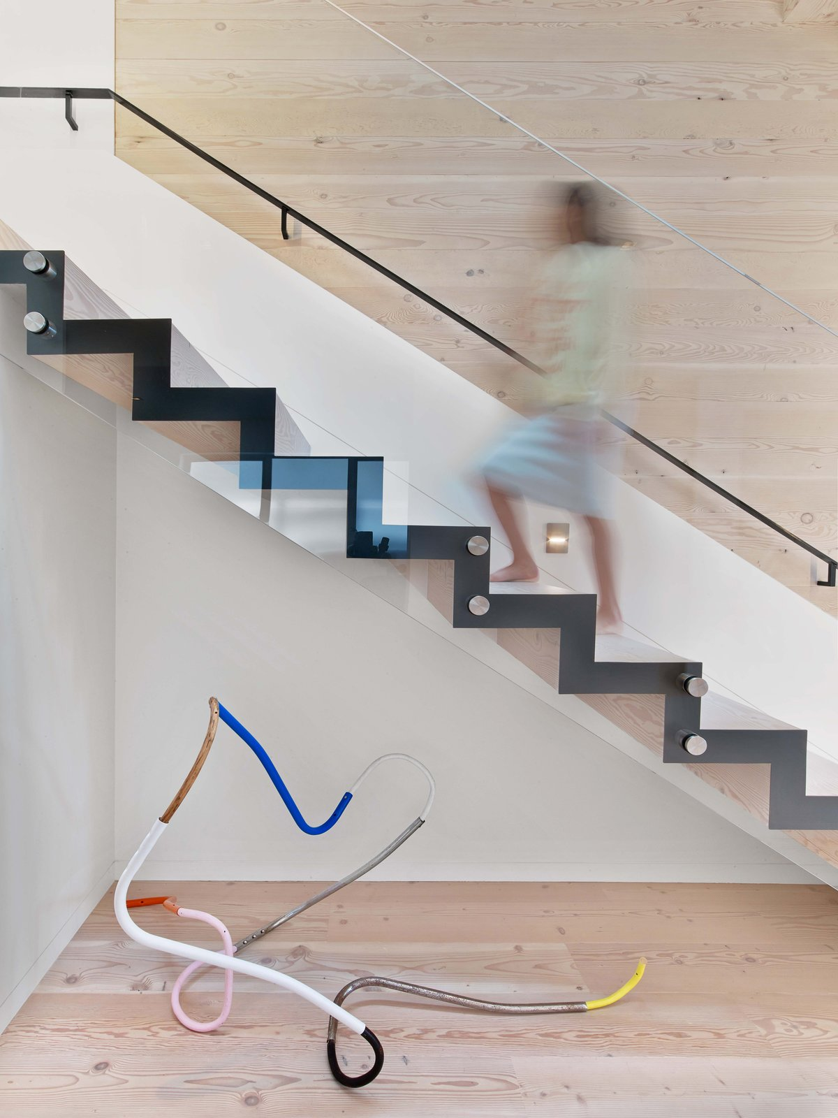Staircase, Metal Tread, and Metal Railing  Glen Park Residence by CCS ARCHITECTURE