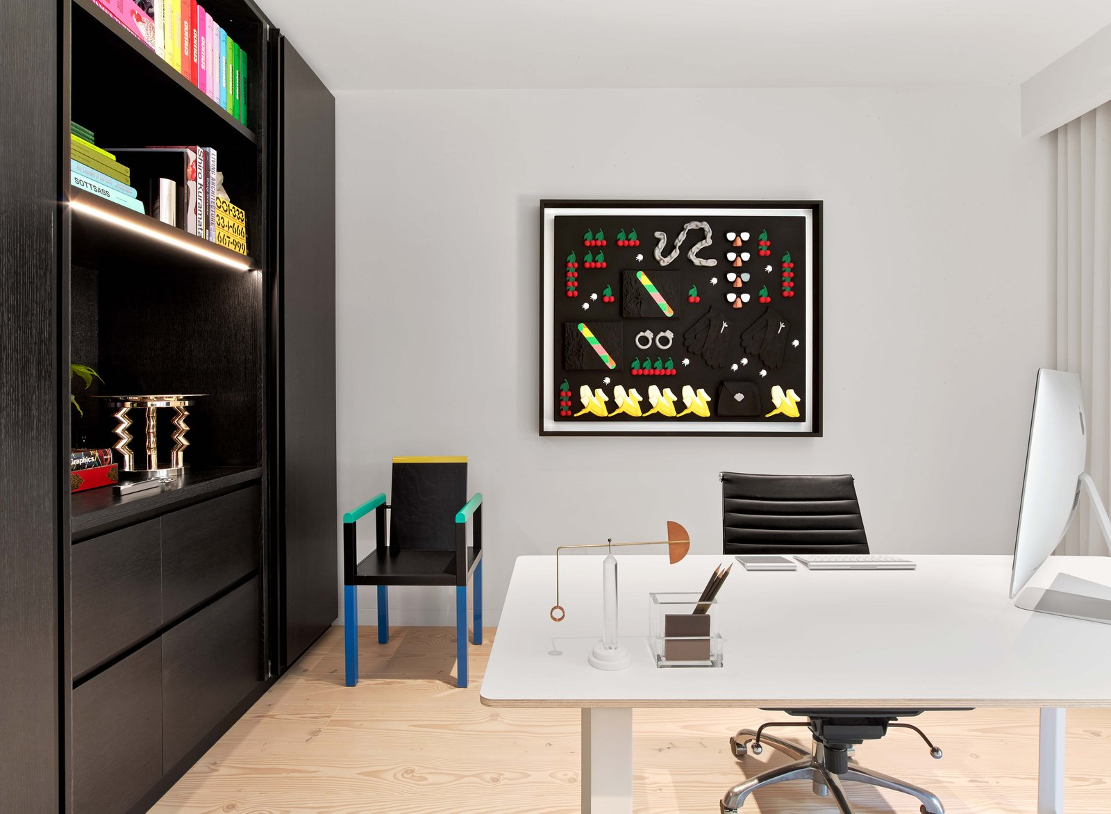 Office, Study Room Type, Chair, Desk, Bookcase, and Light Hardwood Floor  Glen Park Residence by CCS ARCHITECTURE