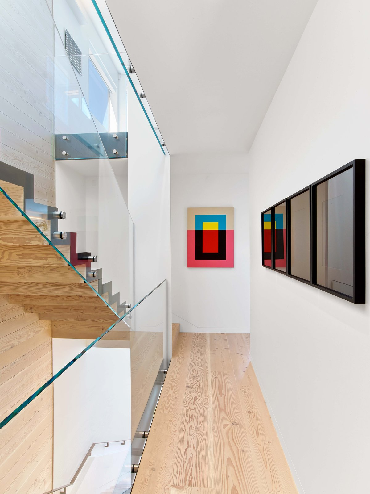 Staircase, Wood Tread, and Glass Railing  Glen Park Residence by CCS ARCHITECTURE