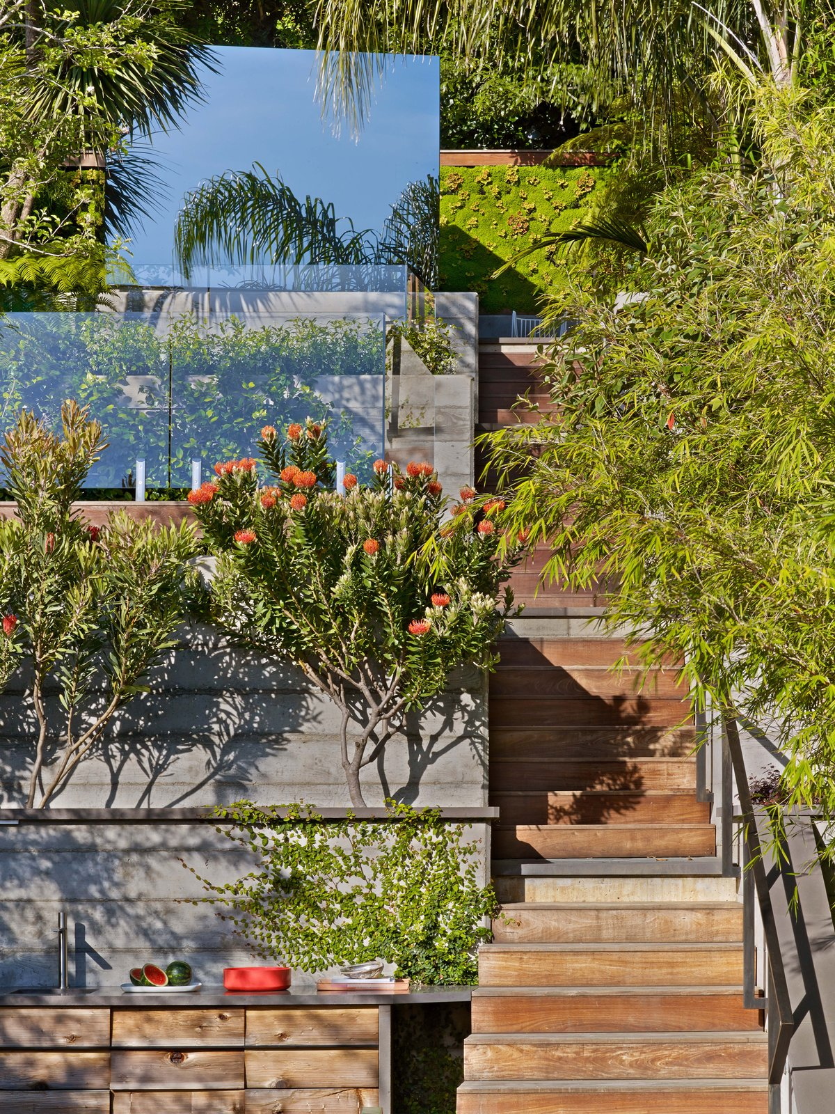 Staircase, Wood Tread, and Metal Railing  Glen Park Residence by CCS Architecture