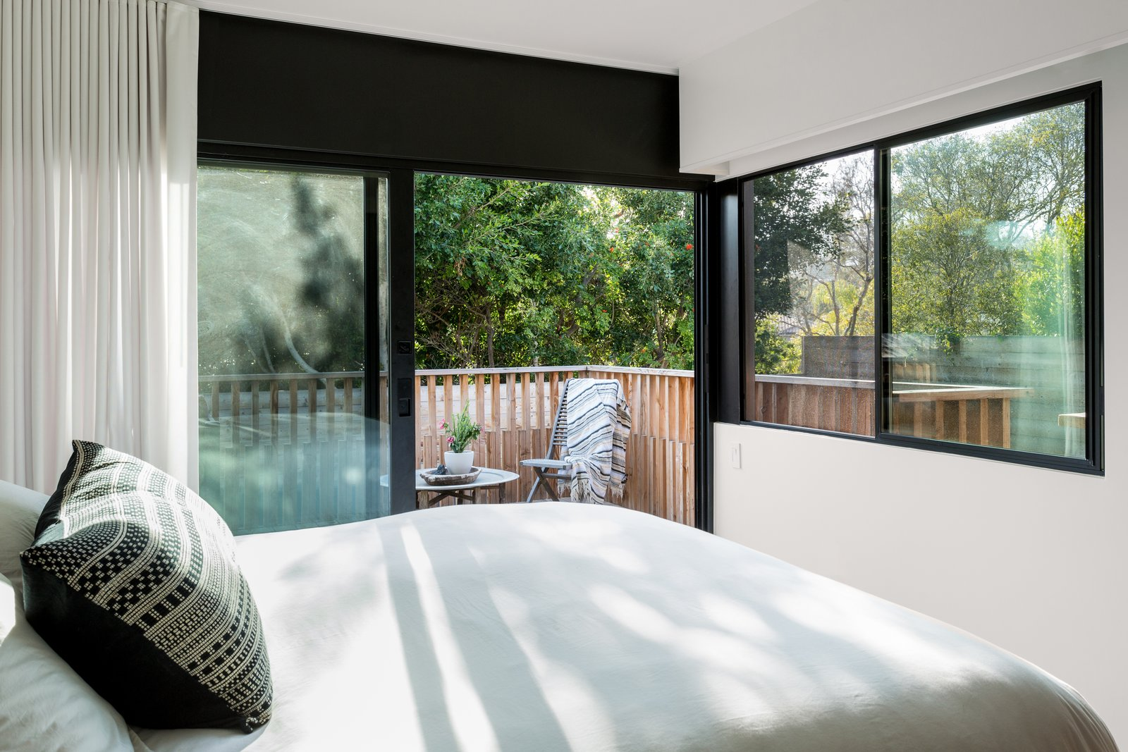 Bedroom and Bed  Photo 9 of 12 in The Woman Who Grew Up in This L.A. Home Returned to Give it a Stunning Renovation
