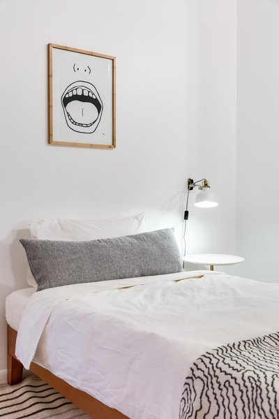 The bedrooms were made to be as flexible as possible, while still feeling comfortable. The throw at the end of the bed is sourced from Zigzag Zurich.