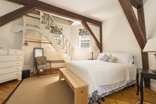 A second bedroom leads up to the windmill's interior.