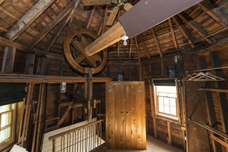 Currently used for storage, the windmill's interior is nevertheless intriguing.