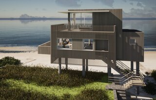 House on Peconic Bay by City Architect
