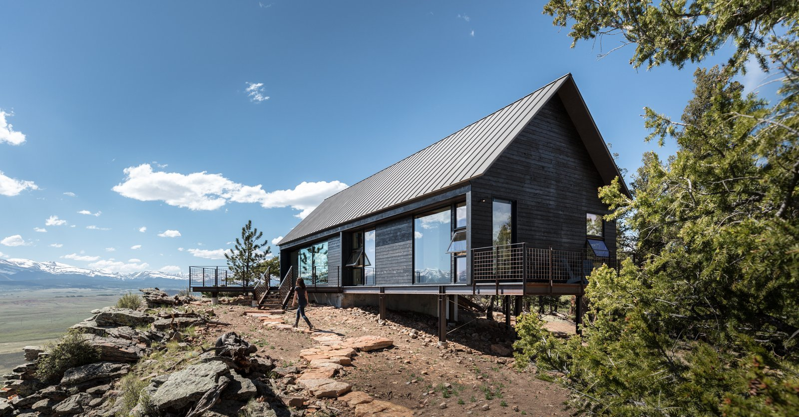 Outdoor  Big Cabin | Little Cabin by Renée del Gaudio Architecture from Two Connected Cabins Make Up This Spectacular Retreat in Colorado